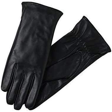 Gants d'hiver en cuir super doux pour femmes
