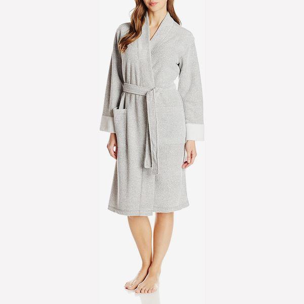 N Natori Nirvana Peignoir de bain en coton brossé pour femme